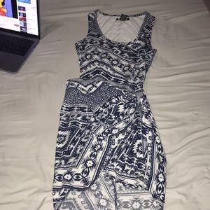 Bodycon tie on side medium dress